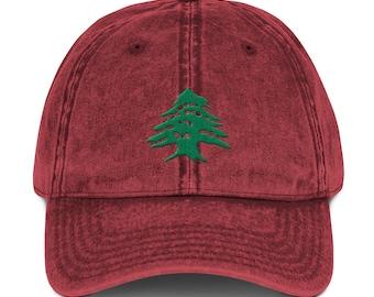 cd943b40 Lebanese Cedar Tree Vintage Cotton Twill Cap, Lebanese Cedar Tree Hat, Cedar  Tree Cap, Vintage Cedar Tree Hat