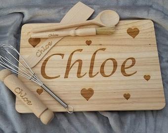 Personalised Baking Set - Custom Engraved - Children's Baking Set - Personalized Baking Set - Star Baker - Cooking Set - Personalised Baking