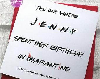 Pleasing Friend Birthday Card Etsy Personalised Birthday Cards Veneteletsinfo