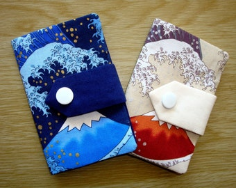 Credit Card Wallet / Business Card Case / Credit Card / Credit Card Sleeve / Fabric / Mount Fuji