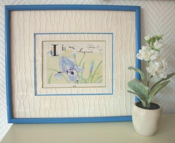 encadrement d 39 art d 39 une carte postale sur le th me de etsy. Black Bedroom Furniture Sets. Home Design Ideas