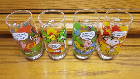 c10cd58384 Set of 4 McDonald s Camp Snoopy Collection Glasses