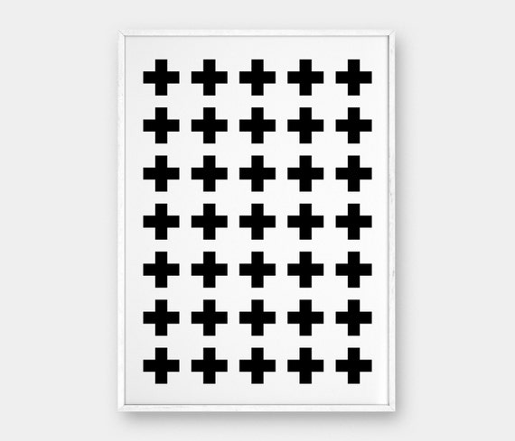 photo relating to Printable Cross Pattern named Cross Routine Wall Artwork, Printable Poster, Swiss Cross, Scandinavian Poster, Black and White, Furthermore Indication, Minimalist Decor, 50x70 cm, A3, A4