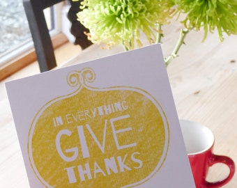 Bible verse greeting card - In everything give thanks