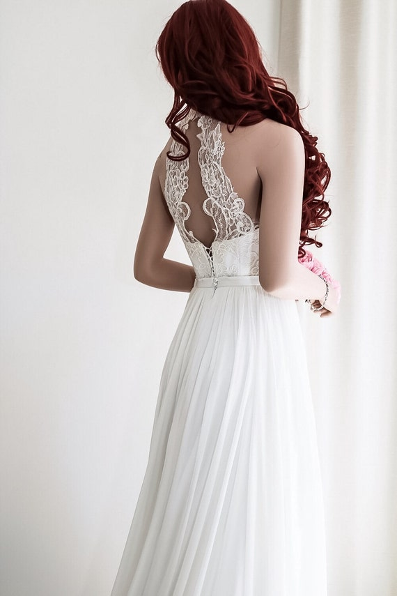 Simple wedding dress Boho wedding dress Beach wedding ...