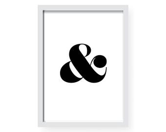 Initial Print | Serif | Decor | Home | Living | Design | Graphic | Letters