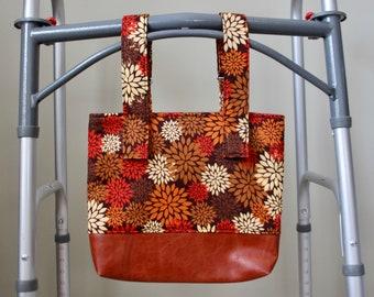 FALL Wheelchair Bag, Walker Bag, Wheelchair Tote, Wheelchair Accessories, Power Chair Bag, Stroller Bag, Walker Caddy