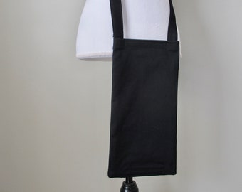 BLACK Nephrostomy Bag Cover 600 mL with Cross Body Adjustable Strap, Cross Body Drainage Bag Cover, Catheter Bag Cover