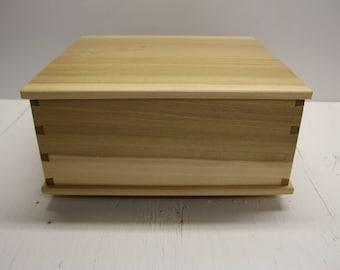Keepsake Box Wood Gift Jewelry Memory Wedding Drawer Dresser Handmade Wooden