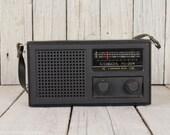Vintage soviet russian portable transistor, Vintage Sokol radio, Made in USSR radio, Handheld portable radio, Portable radio 70 39 s