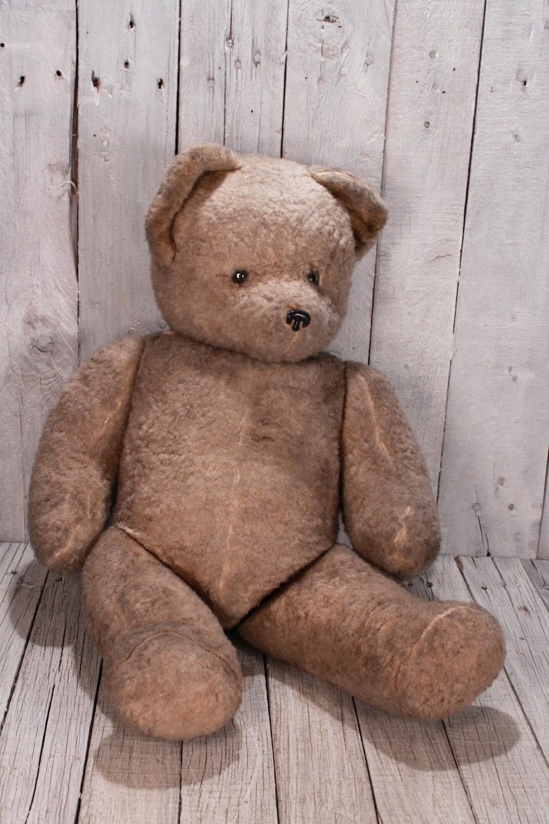 0410e634299 Large German vintage Teddy Bear 1950s   23.6 inches Old