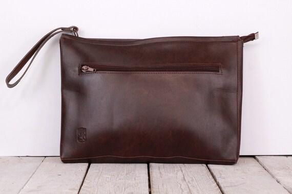 Vintage faux leather briefcase, 1970's brown brief
