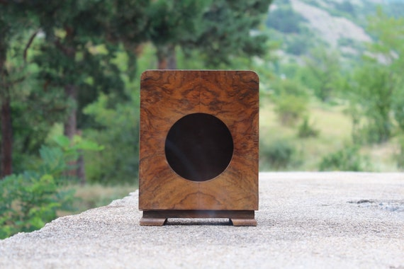 Antique en bois horloge boîte boîte en bois bureau horloge