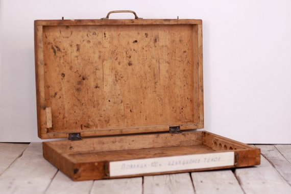 Small Wooden Suitcase, Tools Suitcase, Children's