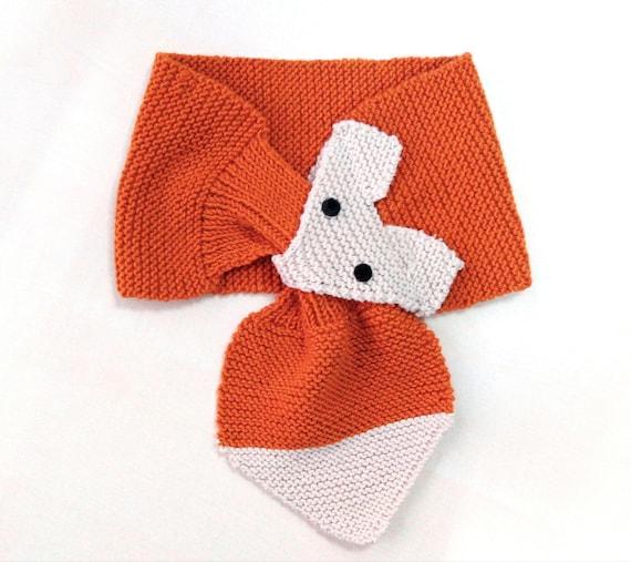 prestazione affidabile stile alla moda sconto speciale di Sciarpa volpe ai ferri per bambino in lana merino