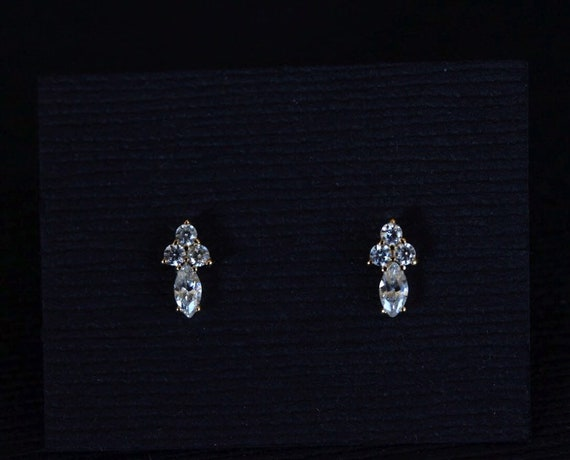 Solid 925 Sterling Silver /& CZ Cubic Zirconia Earrings