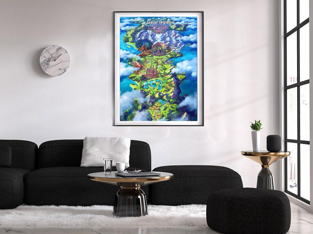 Pokemon Sword And Shield Galar Region Map