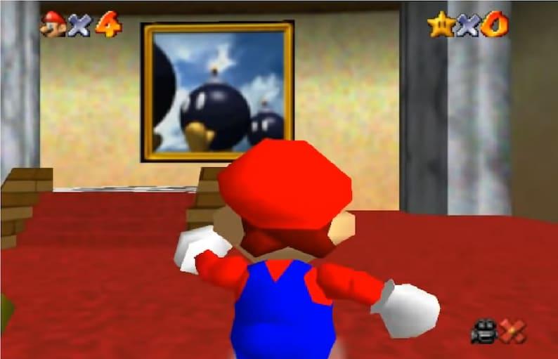Bob-omb Battlefield Mario 64 24x24 Canvas print