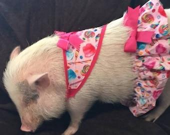 480cf432e2c17 Moo Cow Pet Tutu & Bandana Mini Pig Clothes | Etsy