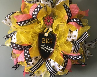 Bee Happy Wreath