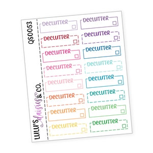 All Black QS0020 Neutral Typography Stickers Planner stickers Matte Sticker Paper, Days Of The Week Typography