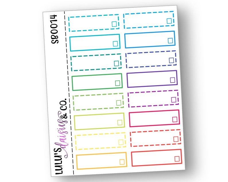 picture relating to Blank Checklist referred to as Blank Listing, Sched Bins, Planner stickers, Erin Condren, Matte Sticker Paper, [SB0014] Multicolor