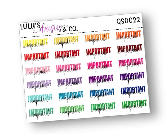 T0040 Multicolor Multi Color Surgery Day Matte Sticker Paper, Typography Stickers Typography Planner stickers