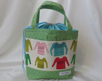 Large Knitting Project Bag // Madelyn Tote // Favorite Sweaters