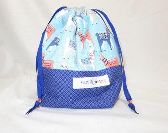 Sock Project Bag // Emily Sack // Llama-Rama