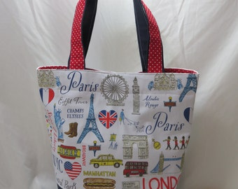 Extra Large Tote Bag // My Favorite Cities