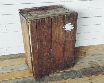 Crate Side Table