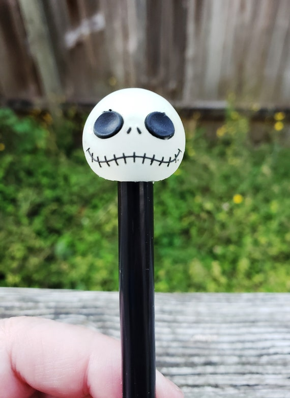 Diamond Painting Pen Black Or White Barrel With Glow In The Dark Jack Skellington Topper Protective Cap Us Seller Fast Shipping