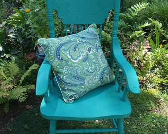 Funky Grotto Blue Farmhouse Vintage Chair