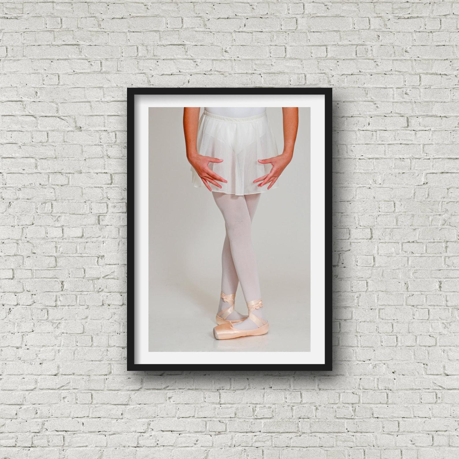 art & collectibles - ballet print- homage a degas- large wall art - ballet shoes by einat hatzamri shavit
