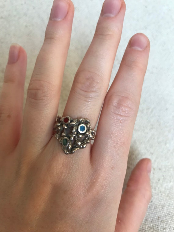 Vintage 1970s Silver Statement Ring