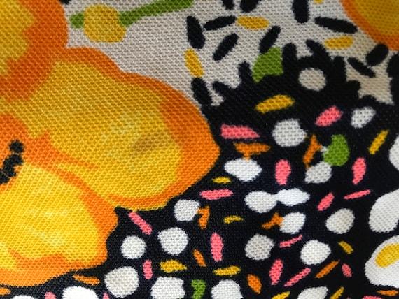 Vintage 1960s Bright Yellow Floral Maxi Dress/Flo… - image 5