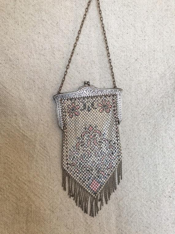 Vintage 1920s Mandalian Metalic Mesh Purse
