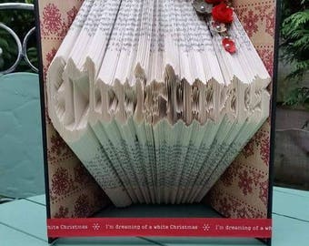 Christmas Book Folding Pattern, 387 folds with Free Beginners Book Folding Tutorial