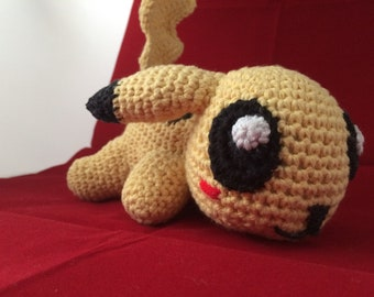 Cute Yellow Crochet Monster