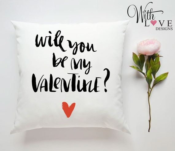 WILL YOU BE MY VALENTINE PERSONALISED PILLOW CUSHION VALENTINES DAY PRESENT GIFT