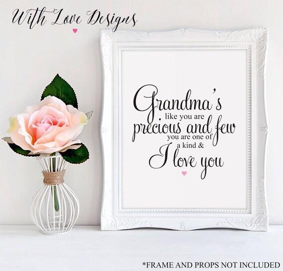Gran Nan Grand Mère Mamie Nounou Citation Famille Personnalisé Impression A5 A4 A3 Fête Des Mères Cadeau Cadeau