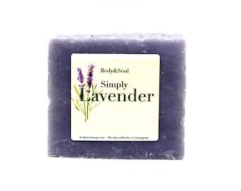 Lavender Soap Bar: Natural Coconut Oil Soap