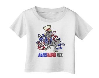 TooLoud AMERISAURUS REX Infant T-Shirt Dark