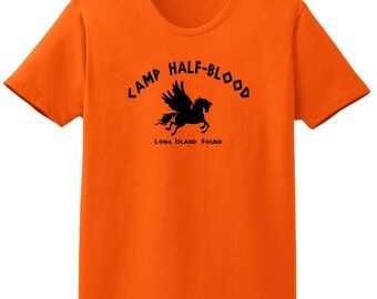 59377b3f Womens Camp Half Blood Tee - Women's Half-Blood T-Shirt, Halloween Costume  Shirt