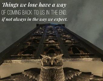 Hogwarts Owl Luna Lovegood Quote Harry Potter Inspired  INSTANT DOWNLOAD