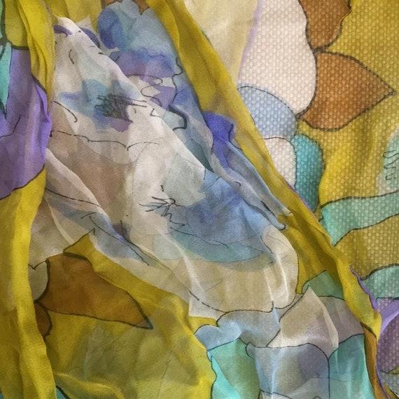 Silk chiffon scarf - image 2