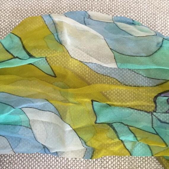 Silk chiffon scarf - image 7
