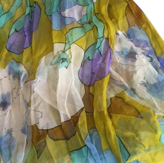 Silk chiffon scarf - image 1