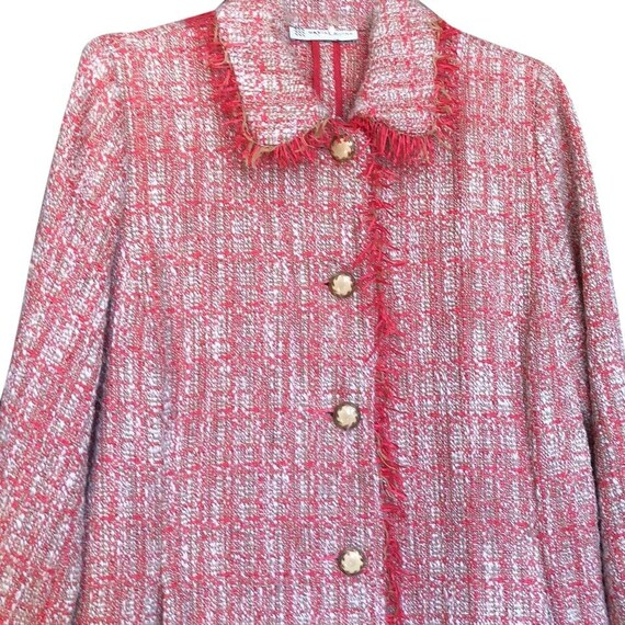 Vintage Pink Tweed Jacket Blazer coat