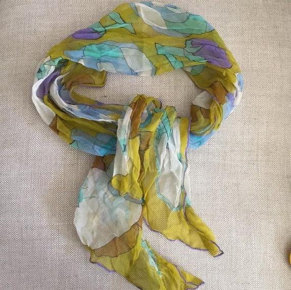 Silk chiffon scarf - image 6